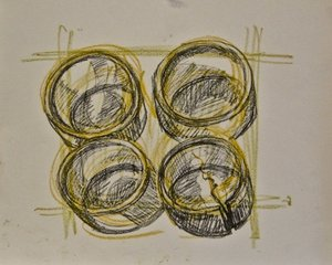 """Study for """"Old Bamboo Cups"""" 2018"""