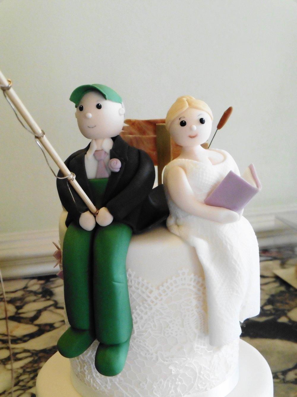 Sugar Bride and Groom Personalised Topper