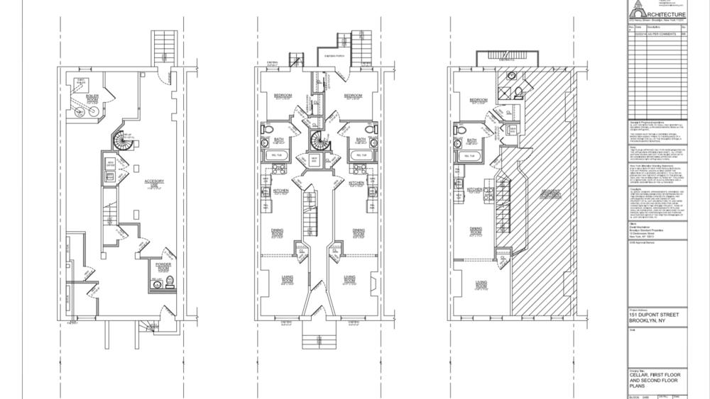 Proposed Layout: Cellar, 1st floor, 2nd floor