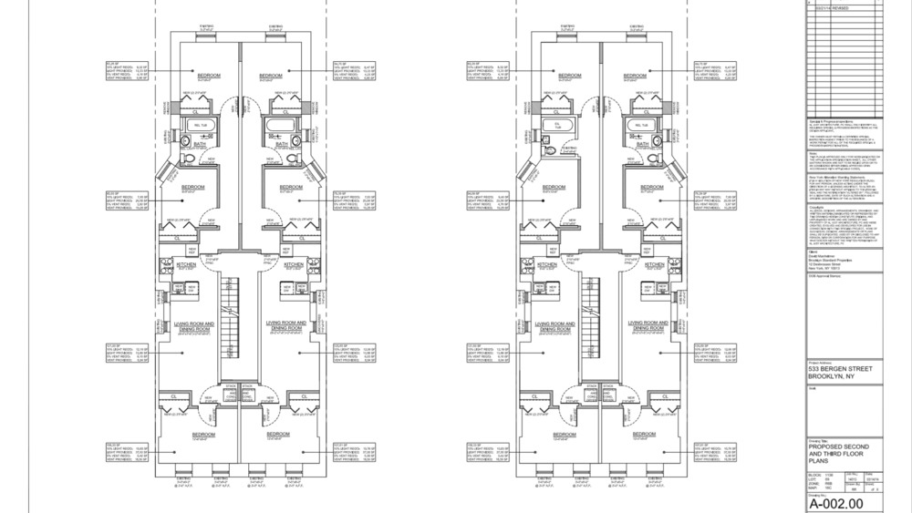 Proposed Layout: 2nd floor and 3rd floor