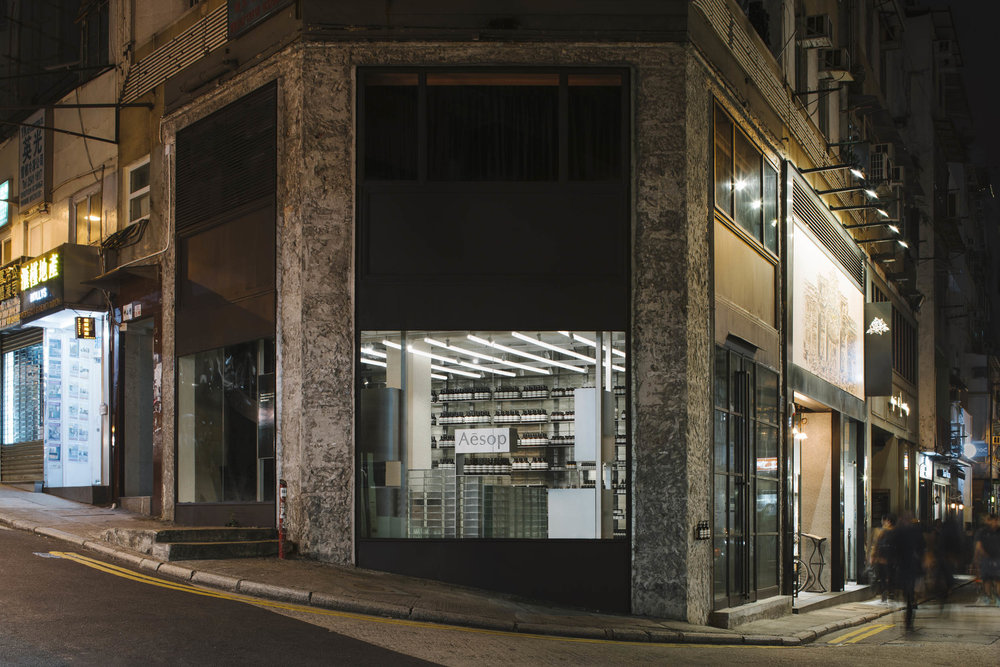 Client  Aesop  Project  Gough Street Store  Location  Hong Kong  Year  2018