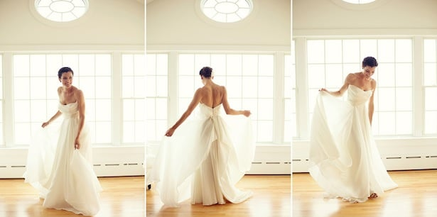 Carol Hannah - Mulberry gown - Real wedding in North Fork