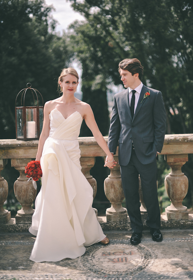 Carol Hannah - Poplar gown - Real wedding in Tuscany