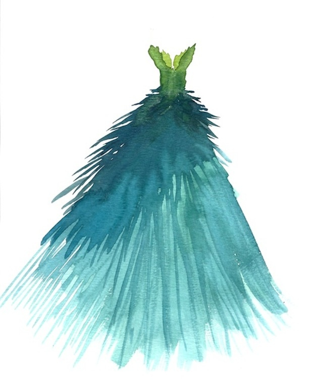 #midnightdoodles Peacock gown sketch