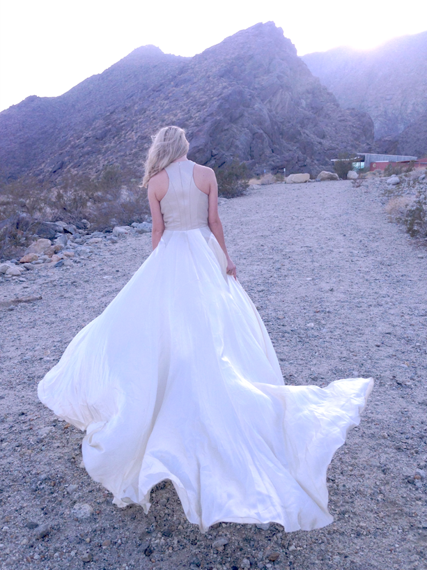 Carol Hannah wedding inspiration in the desert Aleister gown