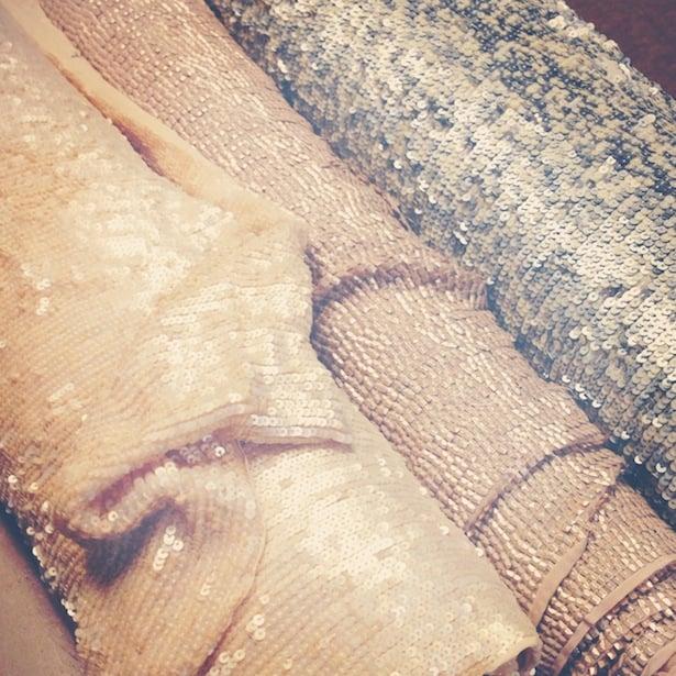 Sequins! Custom fabrics!