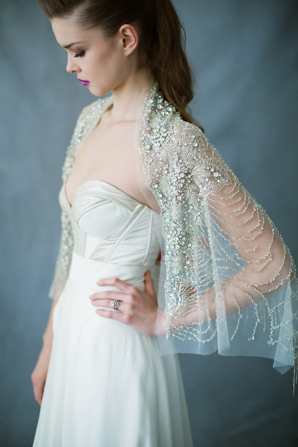 Ursa Major sparkley wrap- Bridal accessories that shine - Carol Hannah