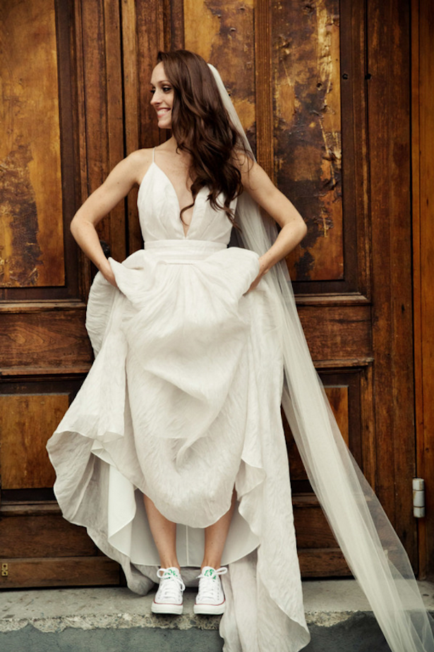 Carol Hannah Real Wedding - L'Elysee gown at Brooklyn Winery