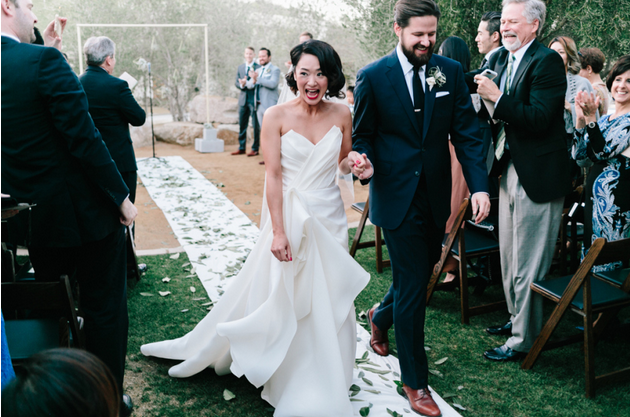 Carol Hannah - Poplar Gown real wedding - ACE Palm Springs