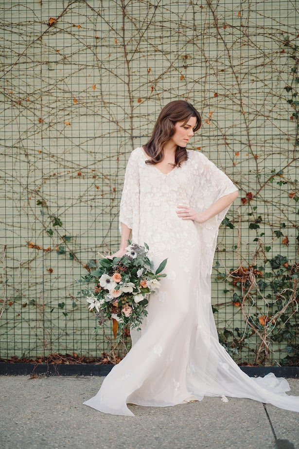Carol Hannah Iolite gown real wedding inspiration