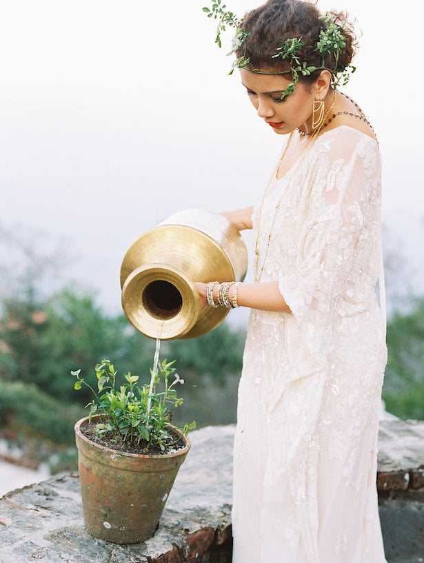 Carol Hannah Iolite gown - Real Wedding Inspiration - Nepal Workshop with Nina and Wes