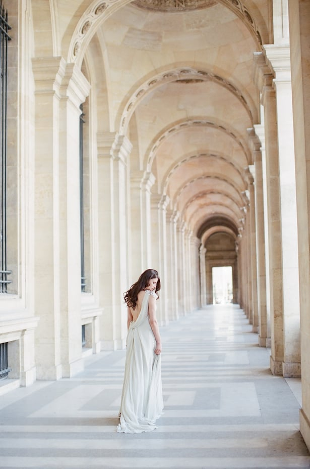 Paris Destination Wedding Photographer | Carol Hannah Le Lumiere Dress | photo by: ARTIESE