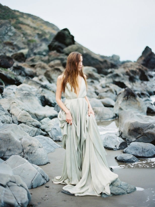 Carol Hannah Azurite wedding gown -Beach wedding inspiration