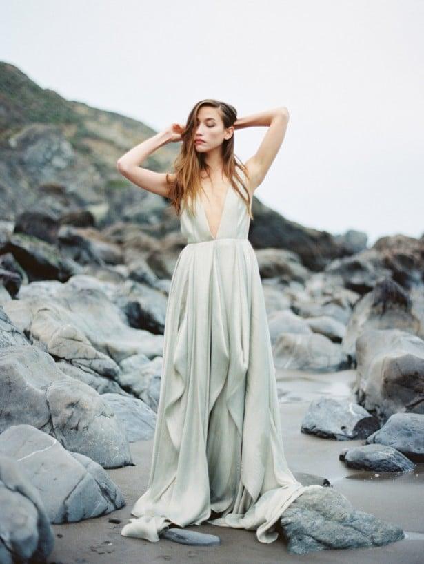 Carol Hannah Azurite wedding gown -Beach wedding inspiration