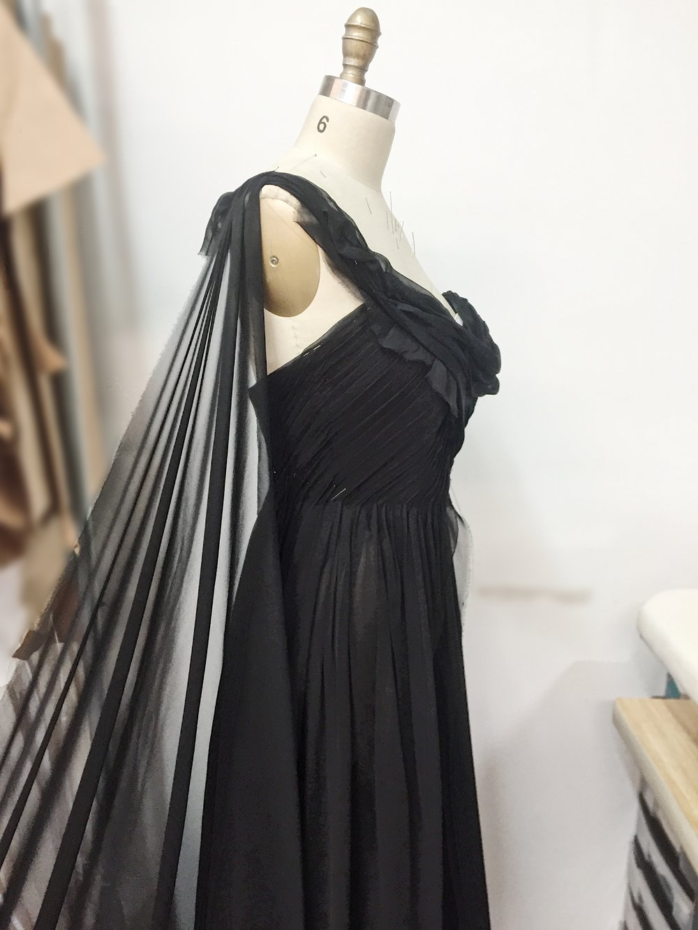 draping for Dierks Bentley - Cassidy's dress for Black video