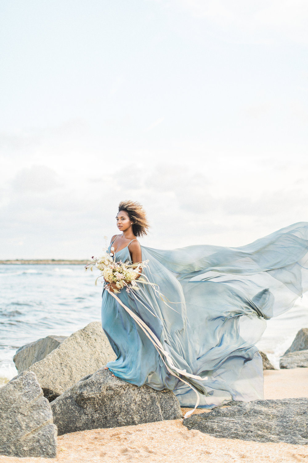 Blue wedding gown beach wedding nonconventional bride043.jpg