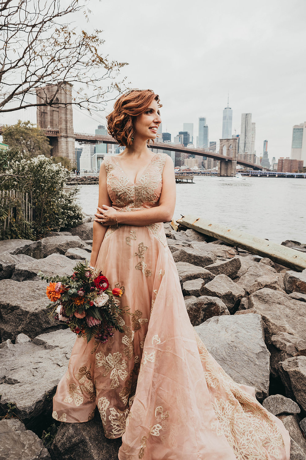 Blush, rose, gold wedding gown with butterflies, victorian bridal trend, nyc wedding gown designer-339.jpg