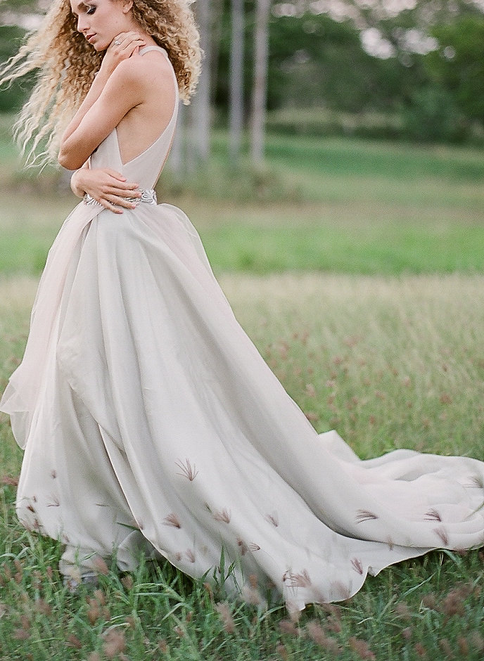light gray tulle draped halter neck wedding dress ny designer bridal shop2-195.jpg