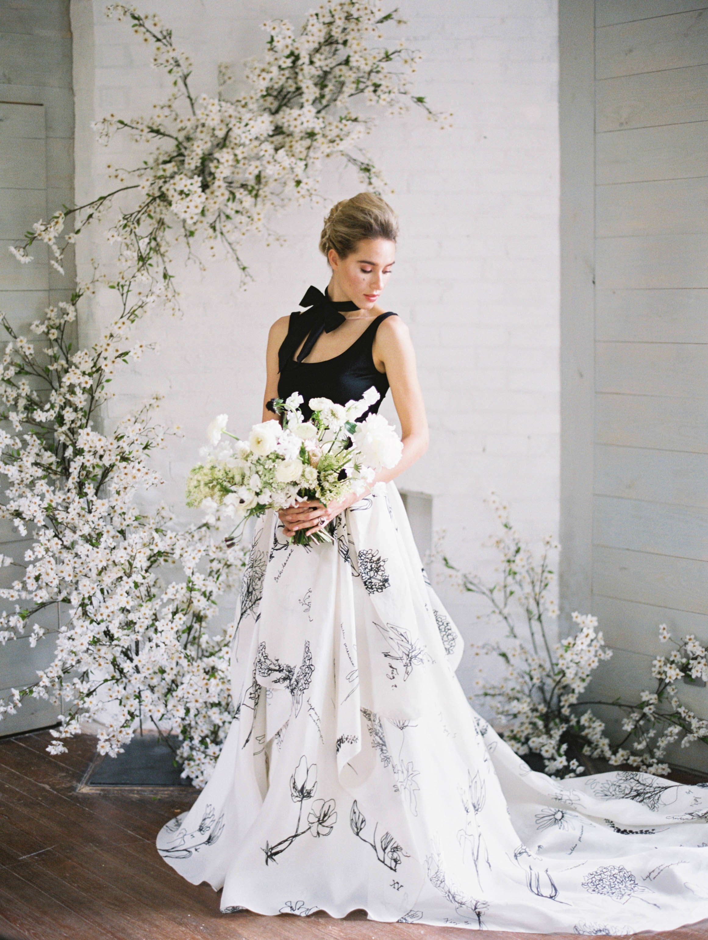 Wedding Inspiration Black And White Florals Carol Hannah