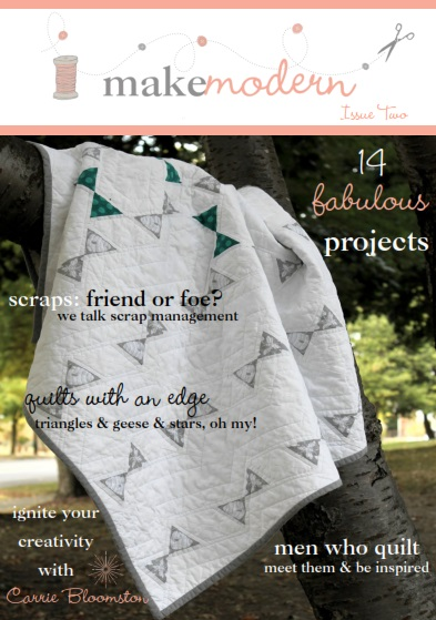 Cover of Make Modern Magazine with quilt by Measured and Slow