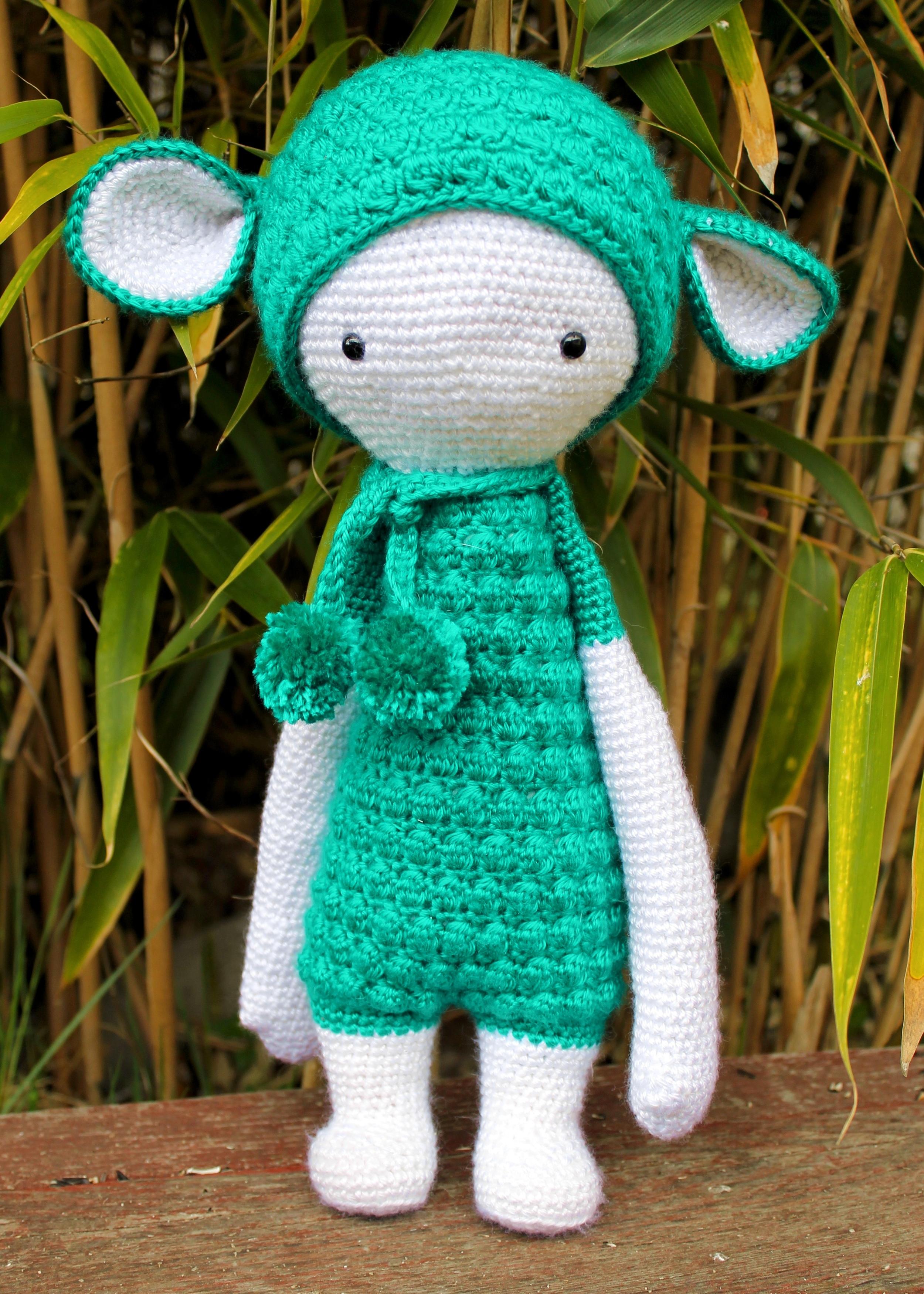 Lalylala amigurumi doll - teal lamb