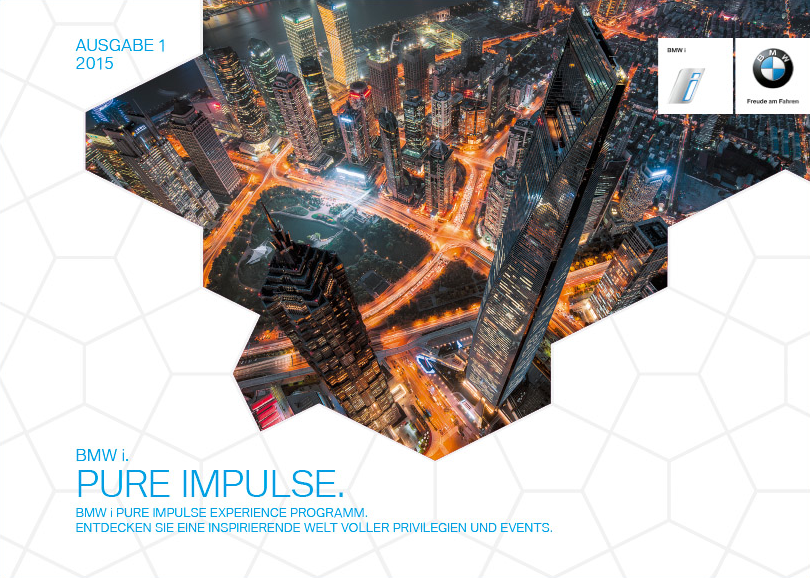 Managing Editor, BMW i Pure Impulse Programme Guide - BMW i Pure Impulse Experience Programme Guide, Print & Online, in 10 languages, Aug 2014 - Mar 2015