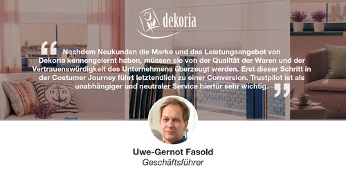 Vertrauensaufbau und Prozessoptimierung durch Online-Bewertungen – dekoria.de hat damit vollen Erfolg