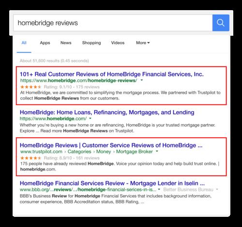 Google-Suche HomeBridge Sterne