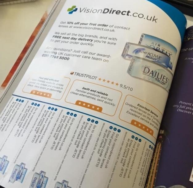 Trustpilot + Vision Direct - Perfekt für Printwerbung 2
