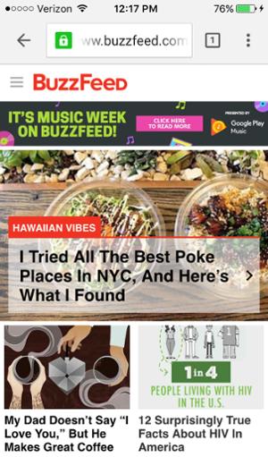 Optimierung für Mobilgeräte - BuzzFeed 1