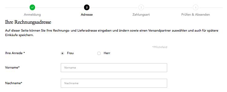 Abb. 7: So weiß der Nutzer, wie viele Schritte noch von ihm verlangt werden.