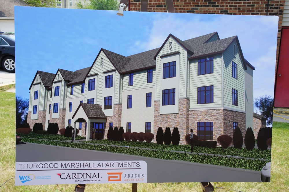 New rendering of Thurgood Marshall Apartments