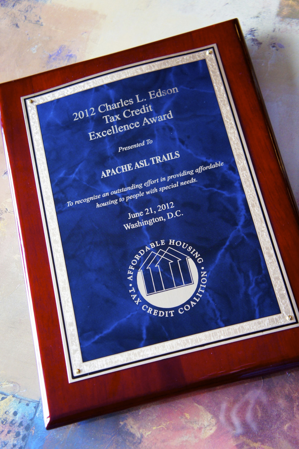 2012 Charles L. Edson Tax Credit Excellence Award