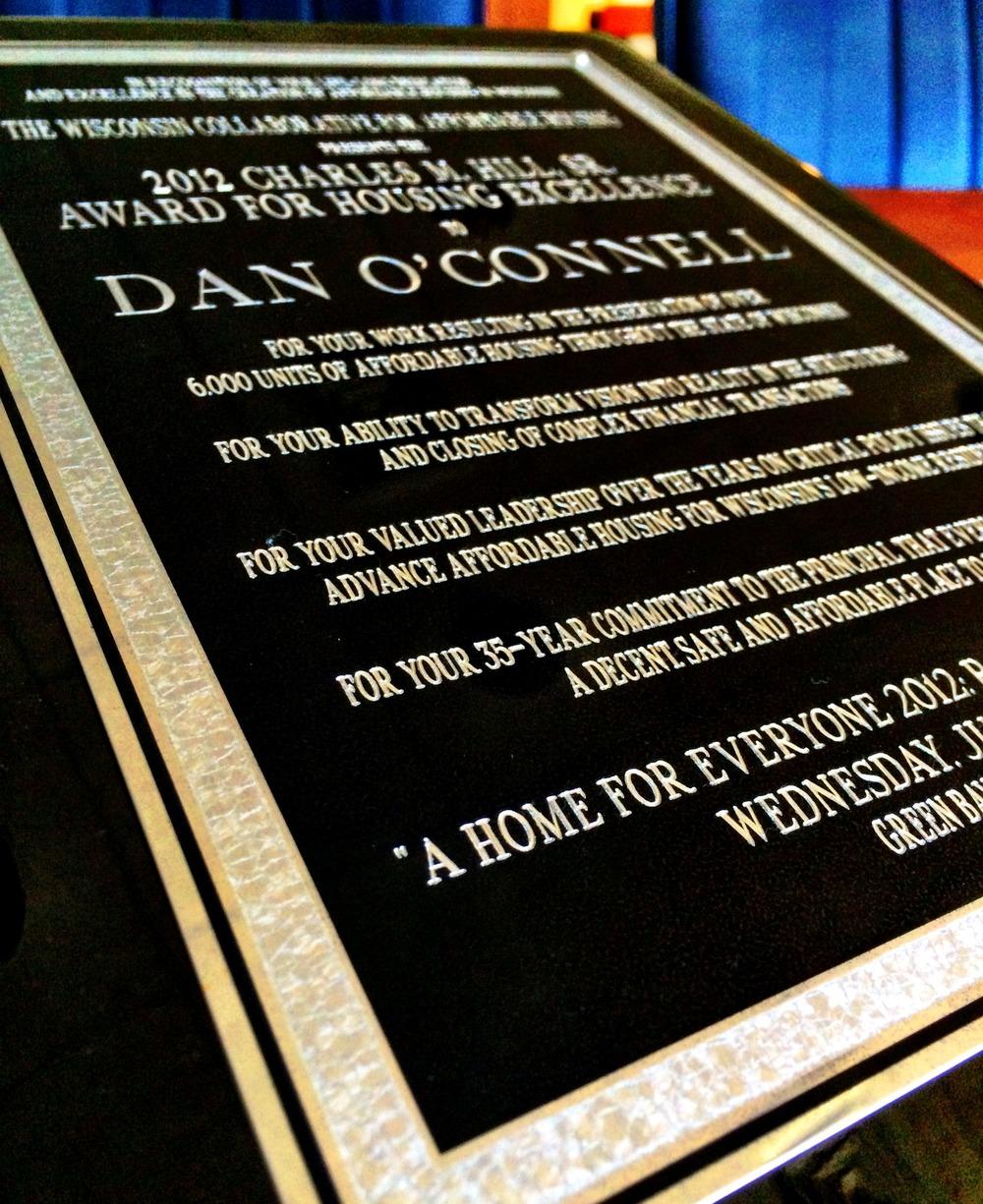 2012 Charles M. Hill, Sr. Award