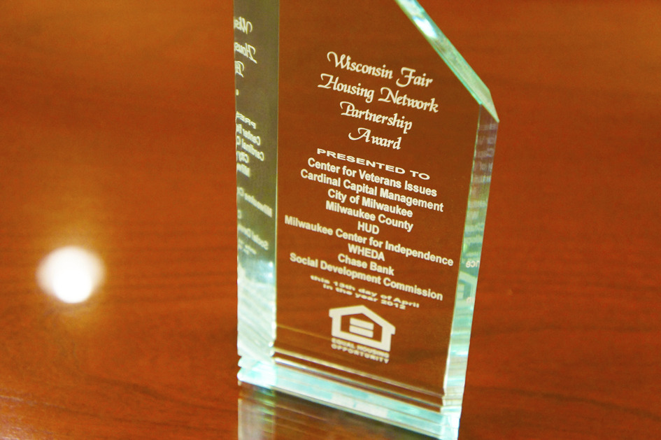 2012 Wisconsin Fair Housing Network Partnership Award