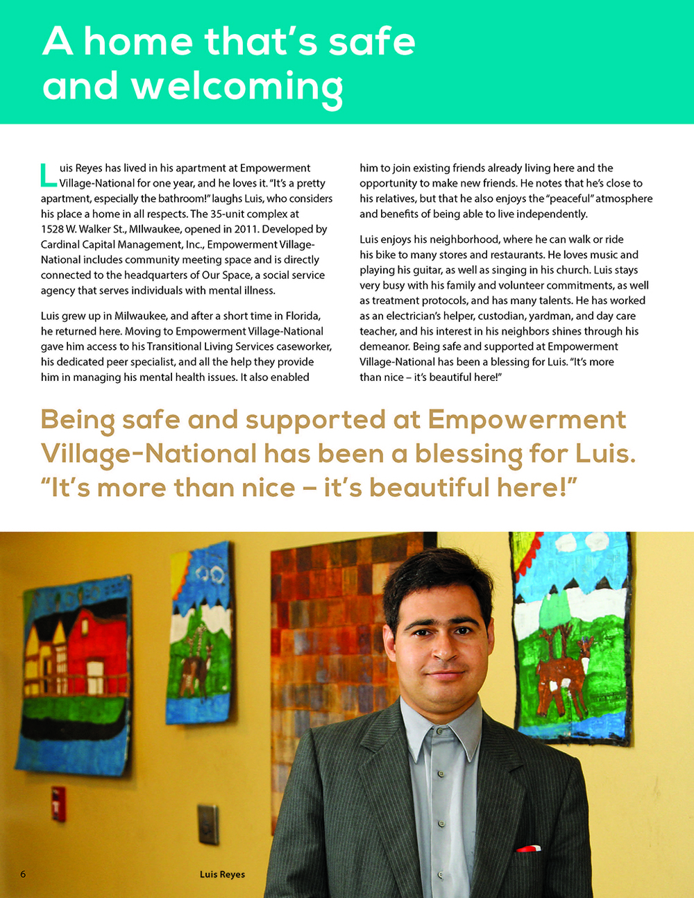 Published in the Milwaukee City/County Commission on Supportive Housing Five-Year Progress Report - November, 2013