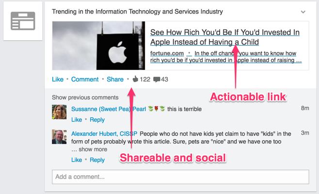 make newsfeed items social