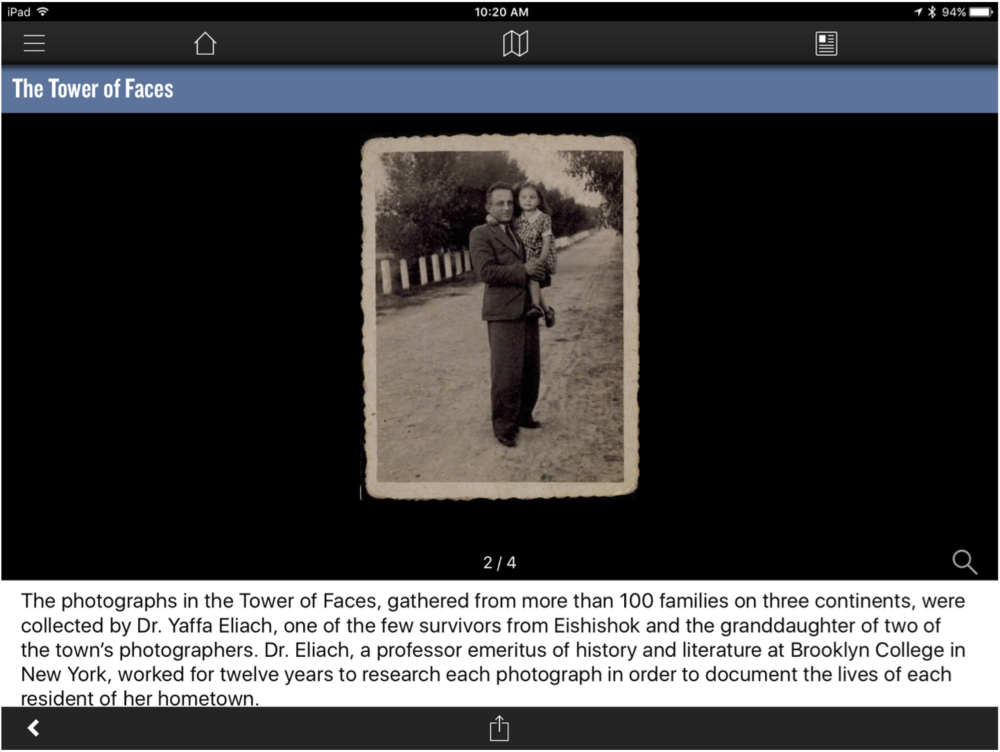 holocaust app visual cues
