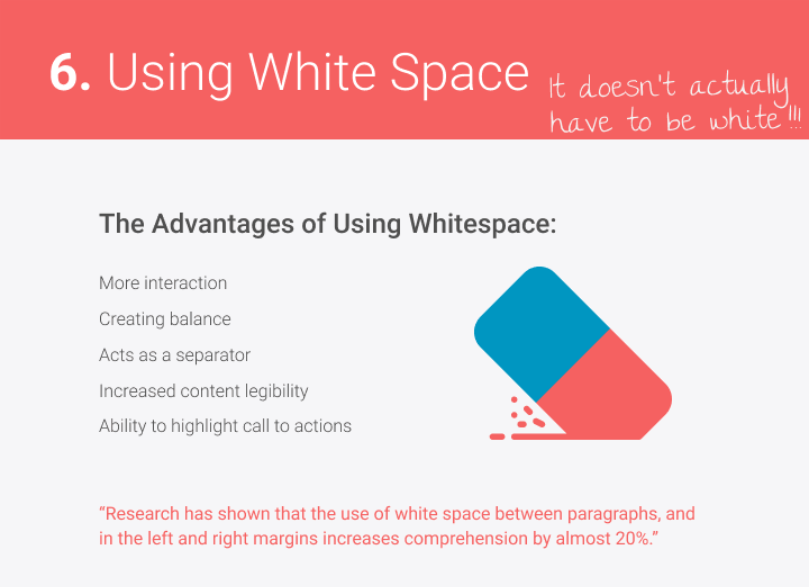 white space web design