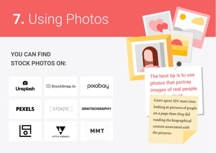 photos in web design