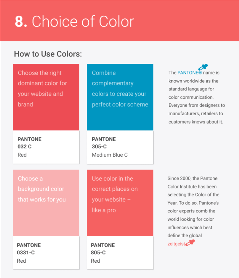 choice of color