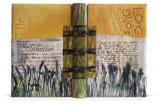 2010 - Sue Doggett. Rustic but still refined. (A lot of rustic or folk work is far too unrefined.) I could use a spine title here too.  http://www.designerbookbinders.org.uk/exhib/booker/booker_2010/booker_4.html