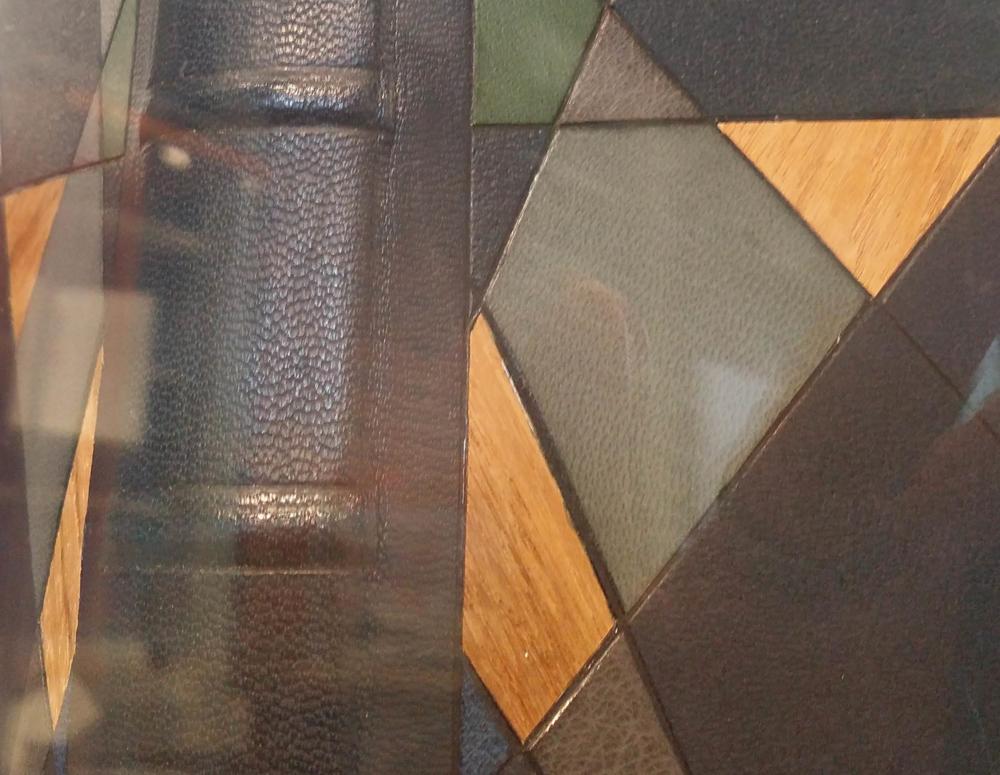 Colin Urbina. Teak wood veneer inlays looking sharp. My durn photograph is quite poor though!