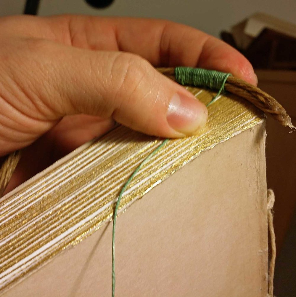 Sewing an end band