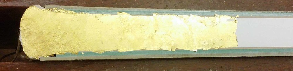 Gilding an edge, in process