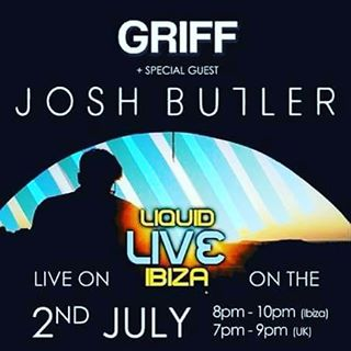 Tonight from 8-10pm (Ibiza time) 7-9pm (UK time) we have Griff with his very special guest @joshbutlermusic.  #housemusic #Techno #techhouse #deeptech #acidhouse #deeptechno #electronicmusic #london #detroit #chicago #ibiza #frankfurt #newyork #berlin #toronto #vancouver #sydney #adelaide #manchester #melbourne #capetown