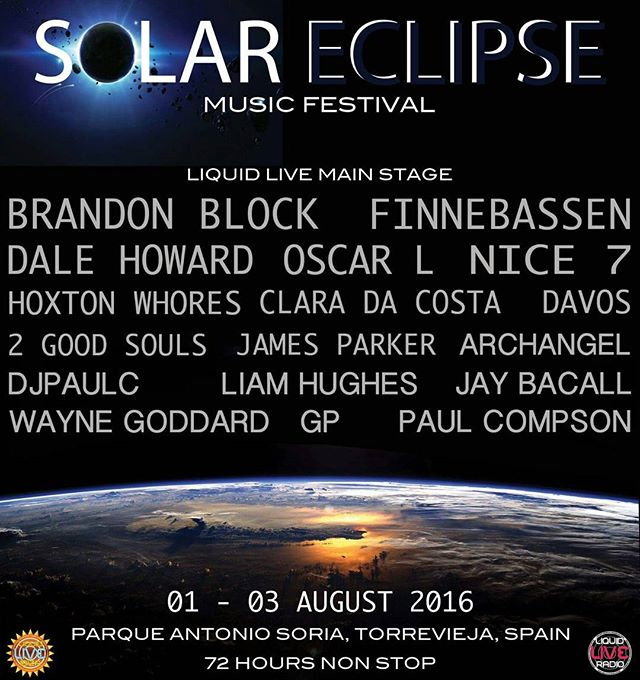 Updated flyer for Solar Eclipse Festival 2016. Some massive names alongside the next lot of talent about to explode.  #housemusic #Techno #techhouse #deeptech #acidhouse #deeptechno #electronicmusic #london #detroit #chicago #ibiza #frankfurt #newyork #berlin #toronto #vancouver #sydney #adelaide #manchester #dj