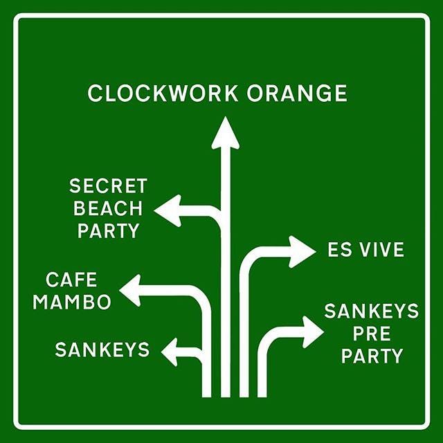 Today all roads in Ibiza lead to Clockwork Orange  #housemusic #classichouse #oldskool #london #ibiza #frankfurt #newyork #berlin #toronto #vancouver #sydney #adelaide #amsterdam #melbourne #borabora