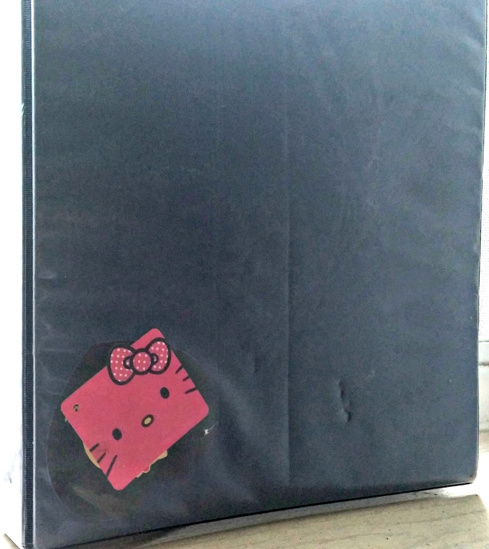 You can also use a ring binder to showcase your love for Hello Kitty