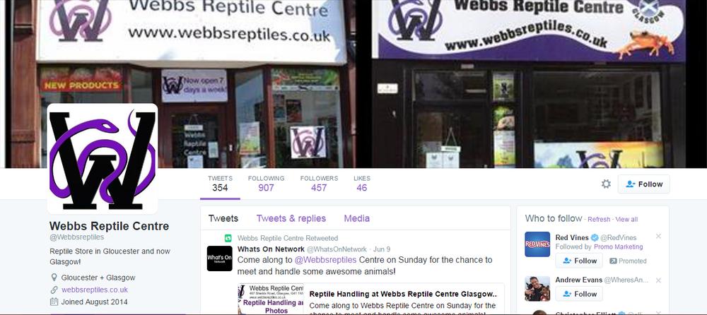 social media marketing for reptile shops: Twitter